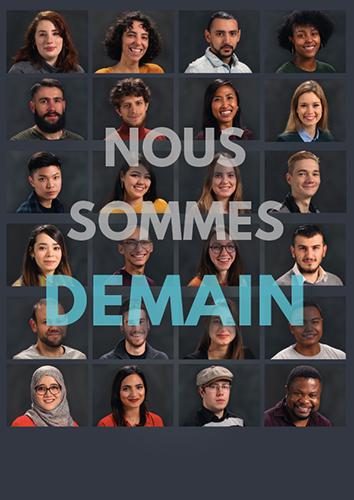Les étudiants de l'université Jean Monnet de Saint-Etienne pour le projet nous sommes demain